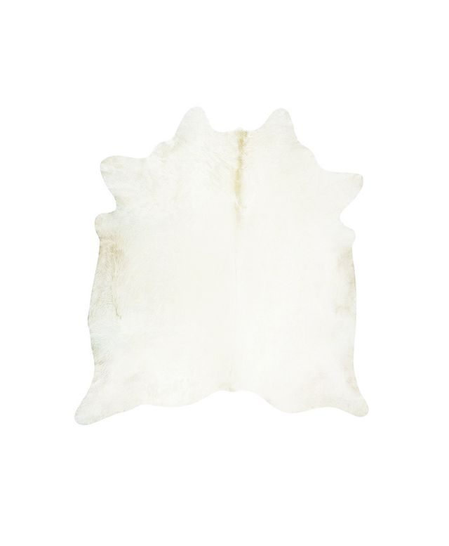 Jersey Road Cream Off-White Cowhide Rug