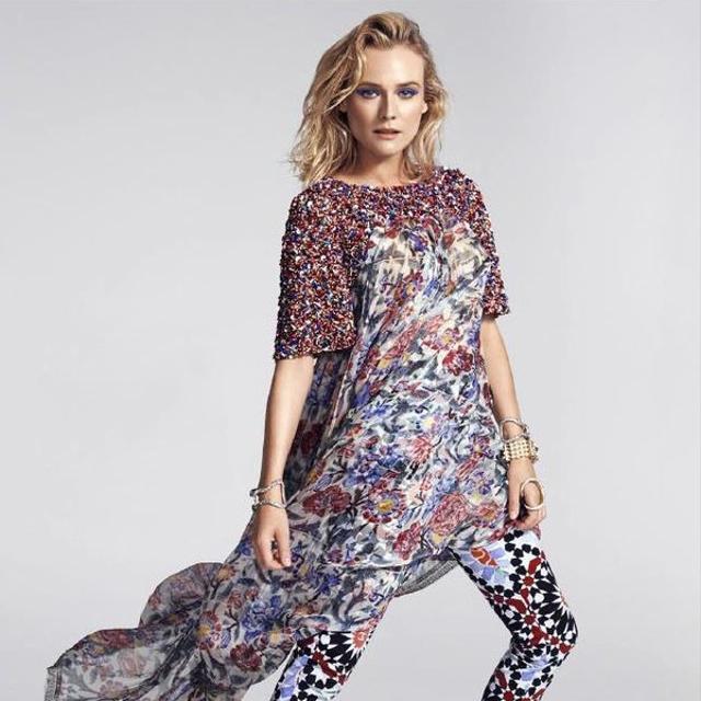 Diane Kruger Goes Girly Grunge For Harper's Bazaar Australia