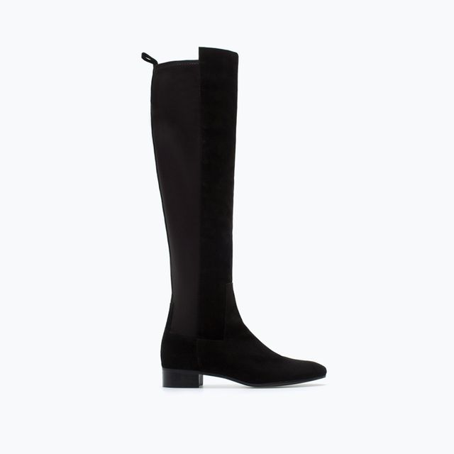 Zara Stretch Leather Boots