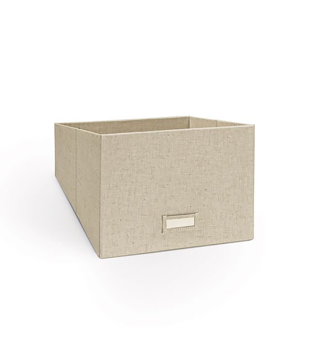The Container Store Linen Handbag Storage Bin