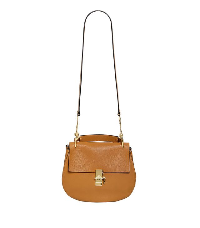 Chloe Large Drew Grained Leather Shoulder Bag