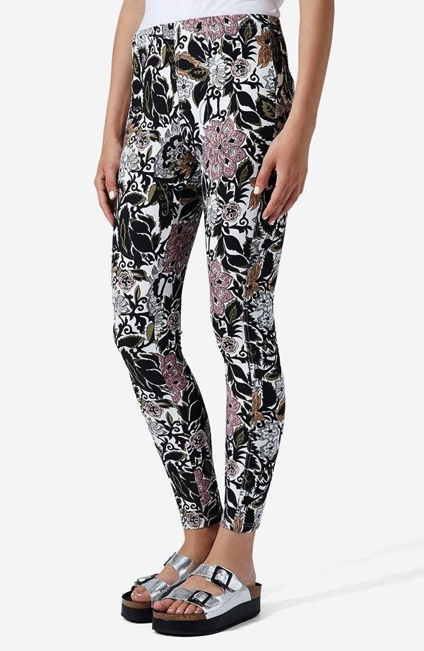 Topshop 'Kirada' Floral Print Leggings