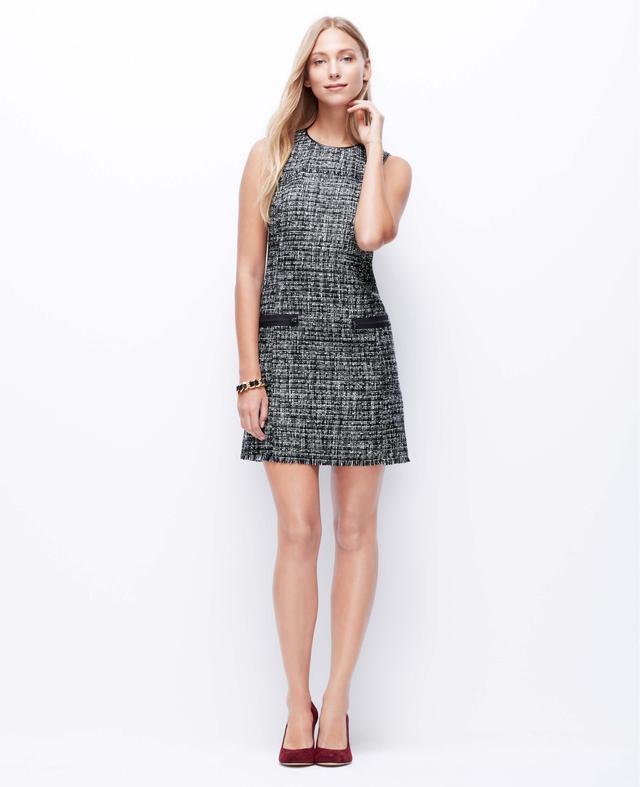 Ann Taylor Tweed Shift Dress