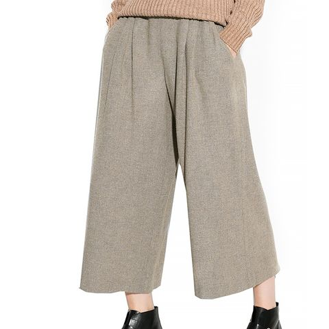 Wool-Blend Culottes