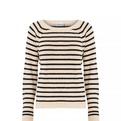 Wool Knit with Sailor Stripes