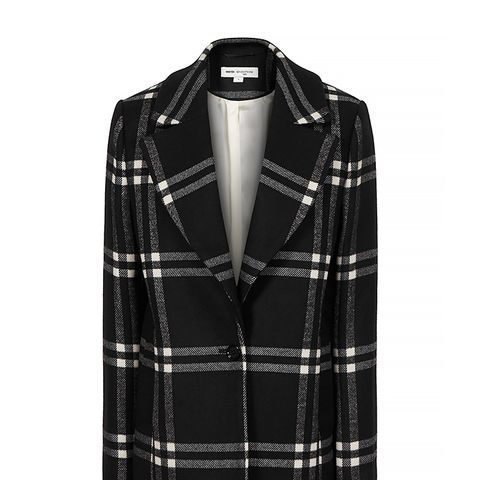 Adelle Check-Print Tailored Coat