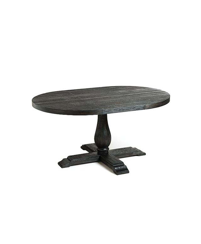 World Market round to Oval Black Greyson Extension Table
