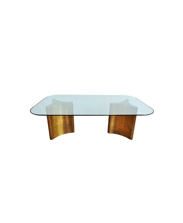 Mastercraft Brass Double Pedestal Dining Table