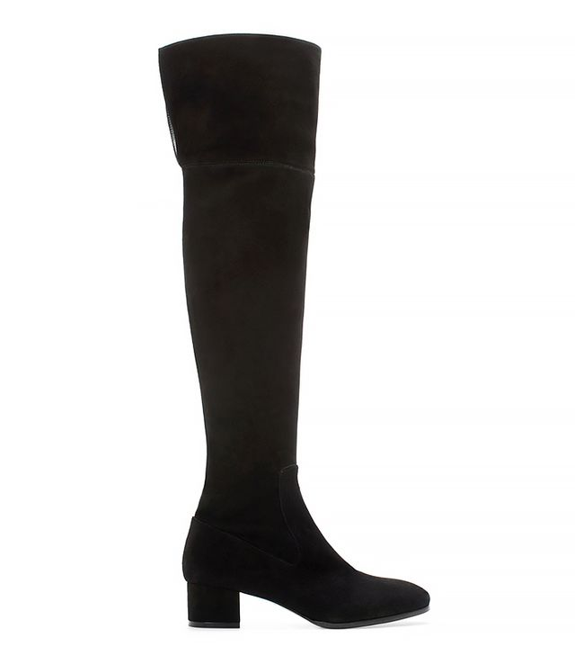 Zara Long Leather Boot