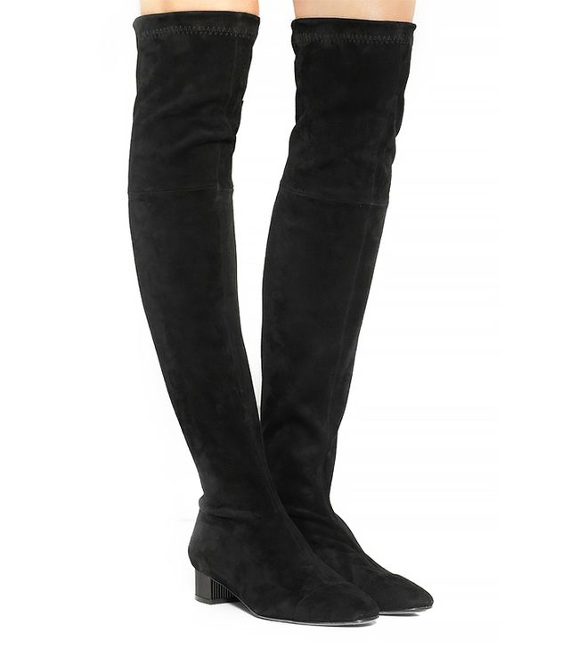 Robert Clergerie Cali Stretch Suede Over the Knee Boot