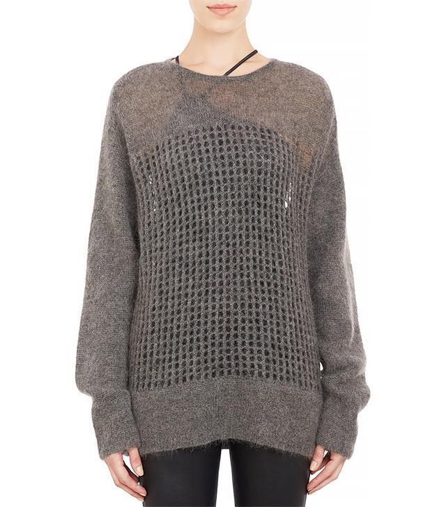 Helmut Lang Oversize Honeycomb Mesh Sweater