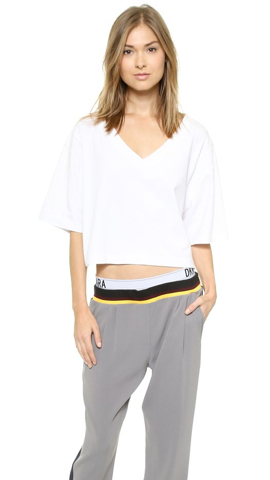DKNY x Cara Delevigne XII Cropped Tee