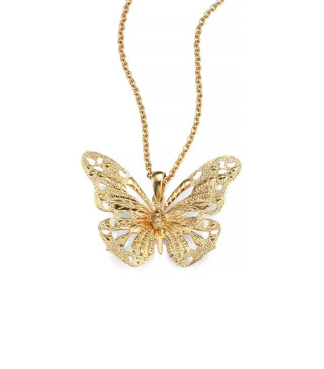 Alexander McQueen Butterfly Pendant Necklace