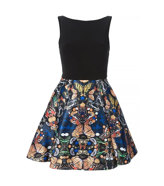 Alice + Olivia Butterfly Printed Bottom Dress