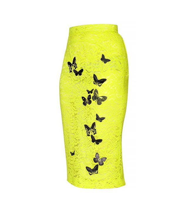 N°21 Butterfly Cotton Blend Lace Skirt