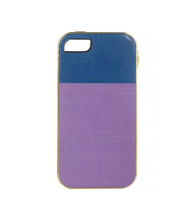 Finds + Lily Kwong The Sam Gold-Plated Leather iPhone 5 Case