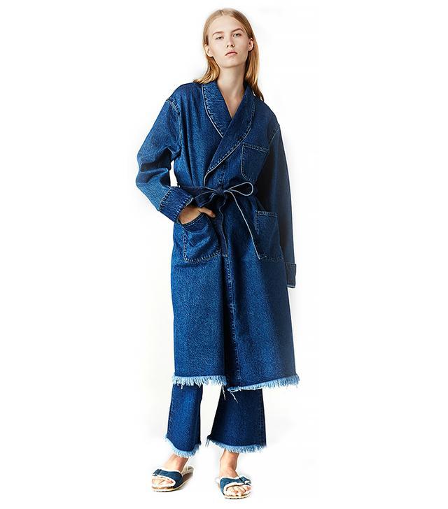 Marques'Almeida Long Denim Pocket Robe