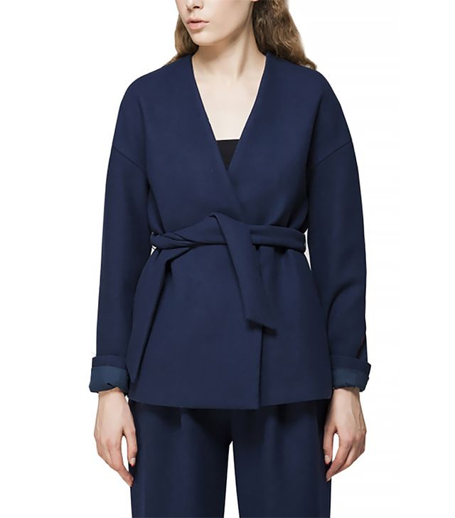 Front Row Shop Wool Coat with Belt