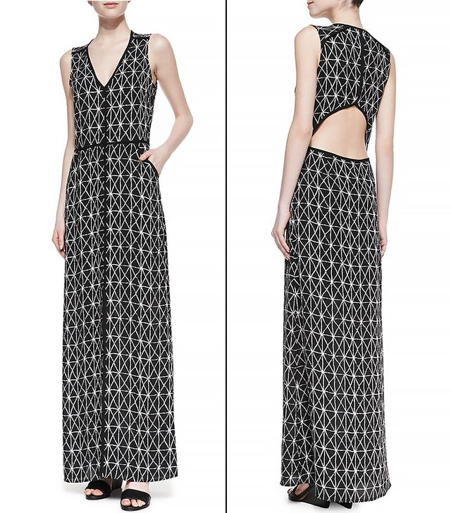 A.L.C. Jesse Open-Back Printed Dress