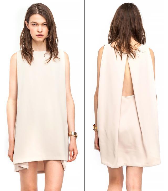 Kaarem Boatneck Open-Back Dress