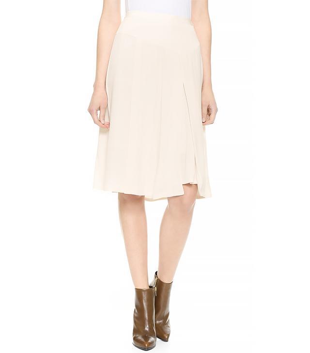 Rebecca Taylor Crepe Asymmetrical Skirt