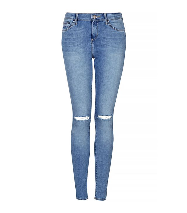 Topshop Petite Moto Blue Leigh Jeans