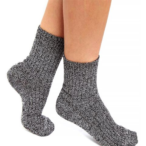 Mix Knit Ankle Socks