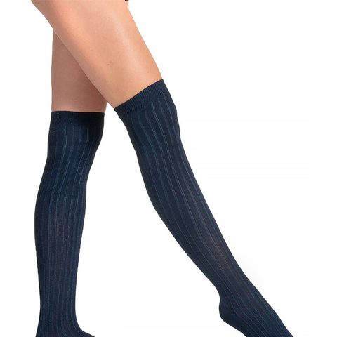 Ribbed Modal Over-the-Knee Socks