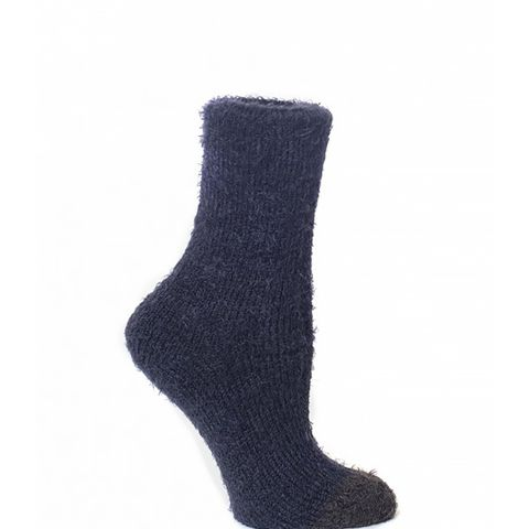Fuzzy Hunter Tip Crew Socks