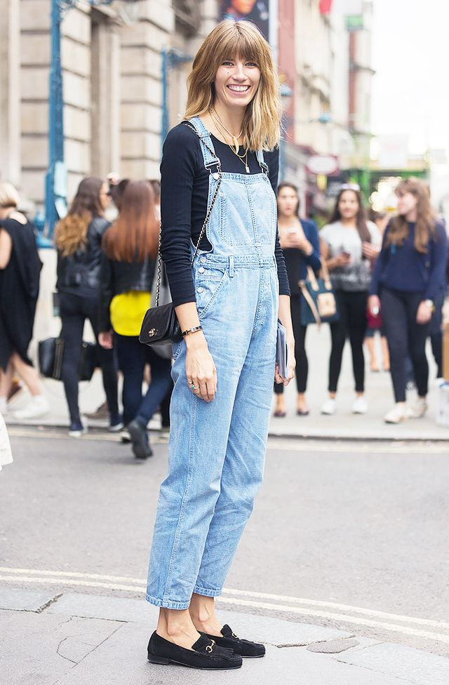 #1: Overalls + Long Sleeves + Loafers