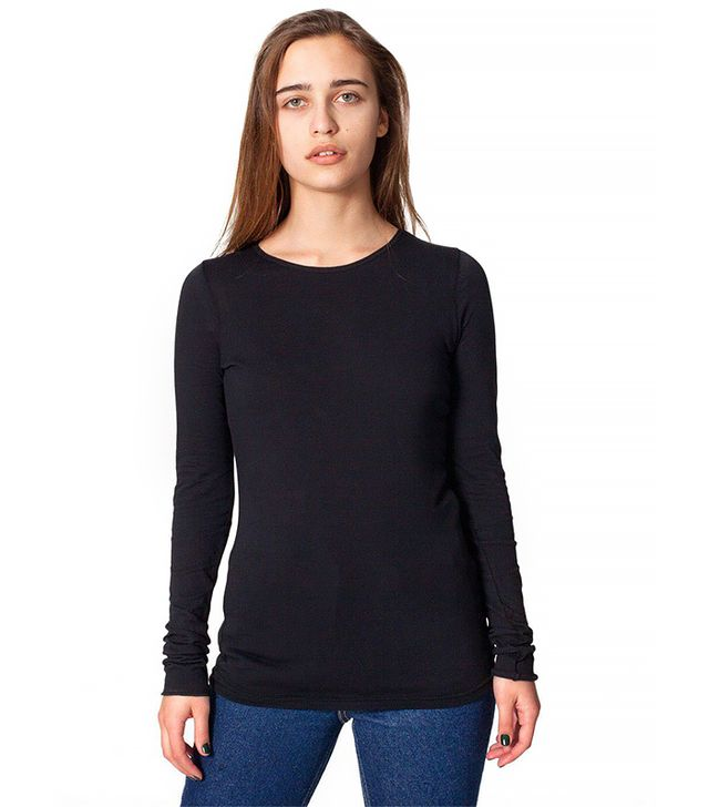 American Apparel Sheer Jersey Long Sleeve Shirt