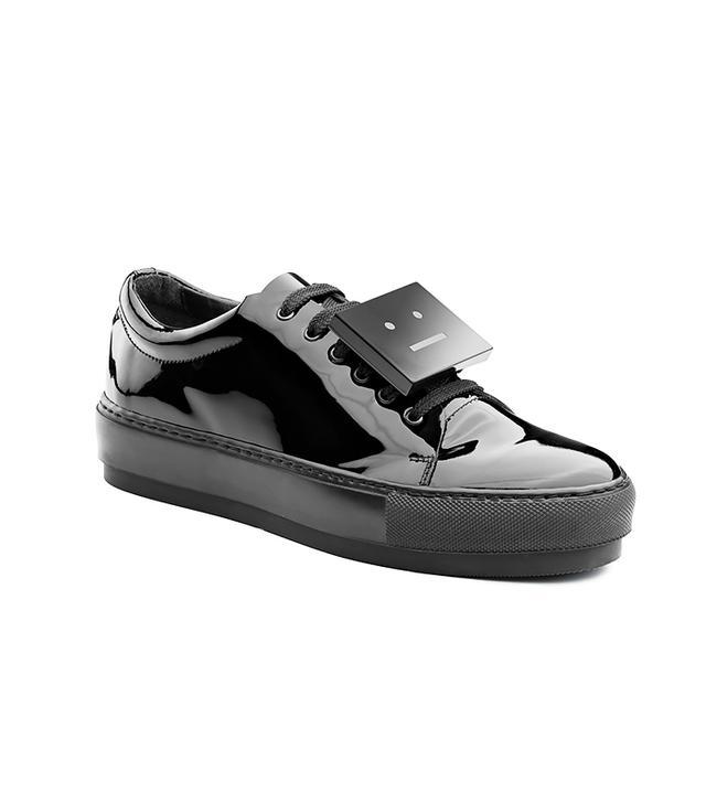 Acne Studios Adriana Patent Black Shoes