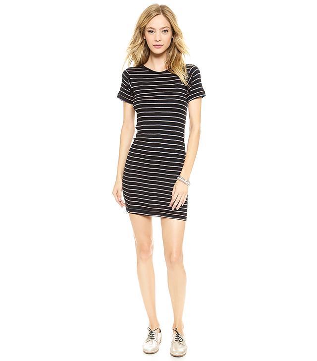 Edith A. Miller Short Sleeve Crew Mini Dress