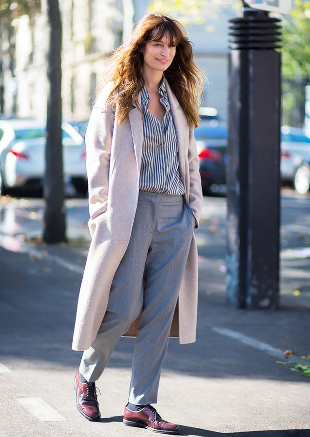 #5: Duster Coat + Striped Shirt + Trousers