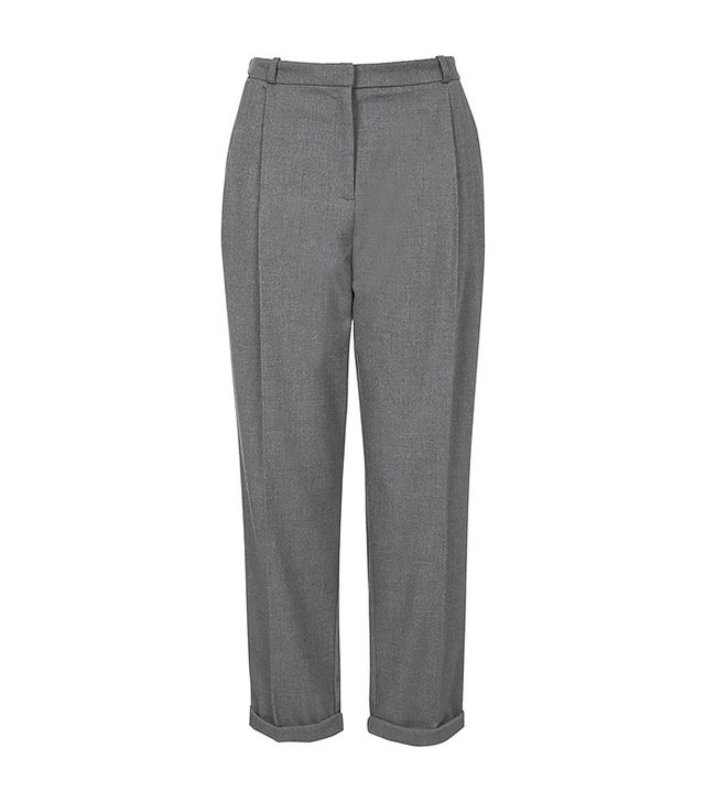 Topshop Flannel Mensy Crop Trousers