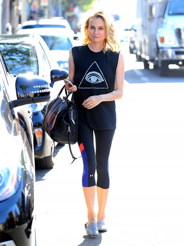 Gym Style 101 What Alexa Chung Diane Kruger More Are Wearing Whowhatwear Uk