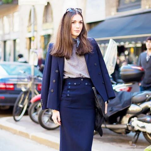 Street Style Blue Blazer