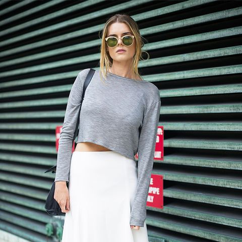 Street Style Cropped Sweater