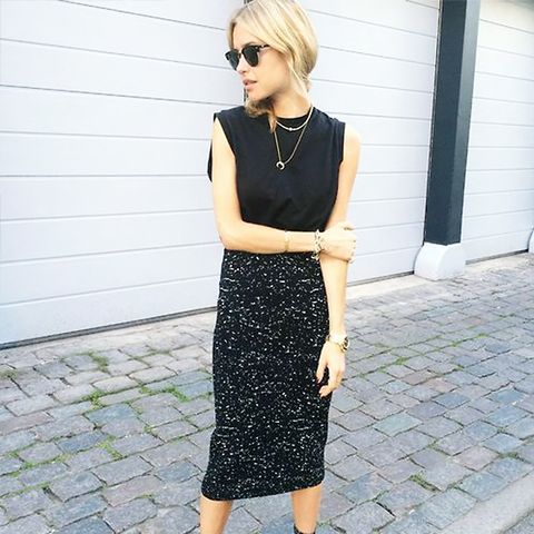 Street Style Black-On-Black Boots