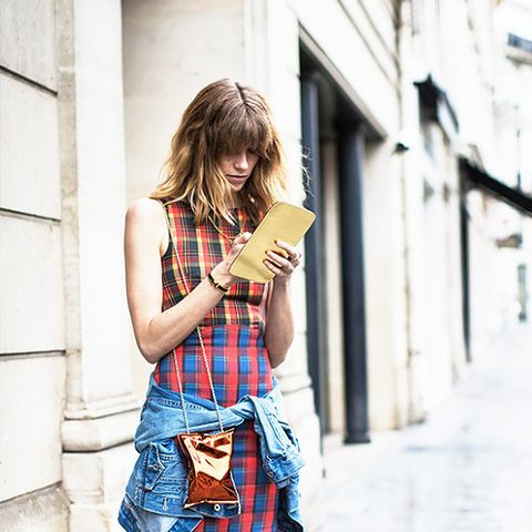 Street Style Plaid Dress