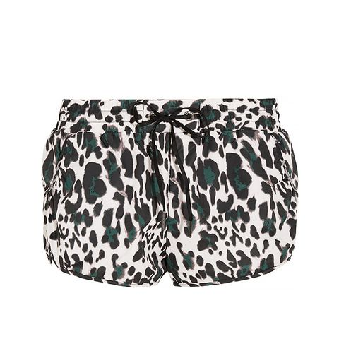 Leopard-Print Shell Running Shorts