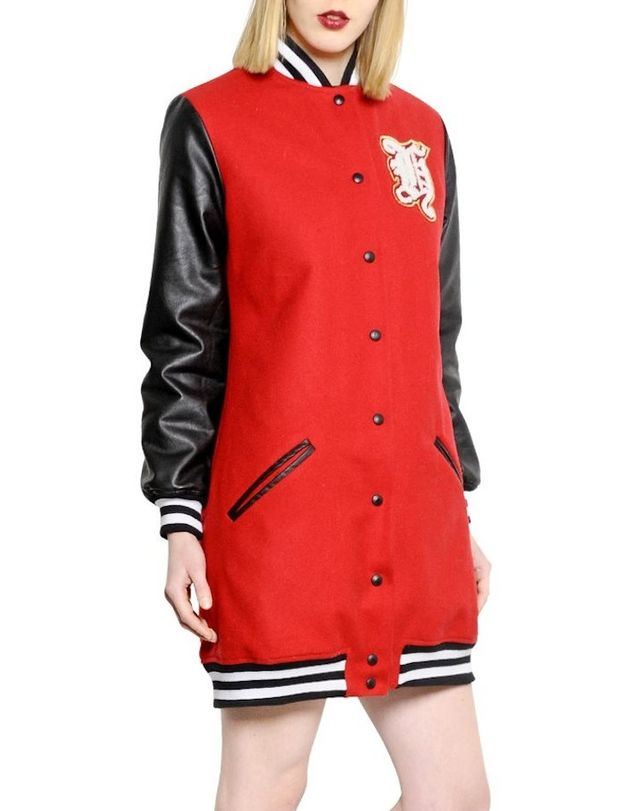 That's It Wool & Faux Leather Varsity Jacket