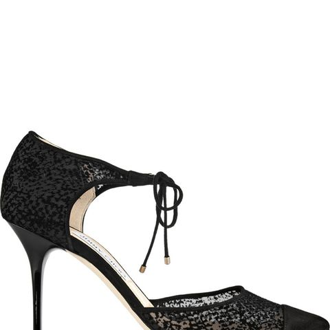 Valor Flocked Mesh And Suede Pumps