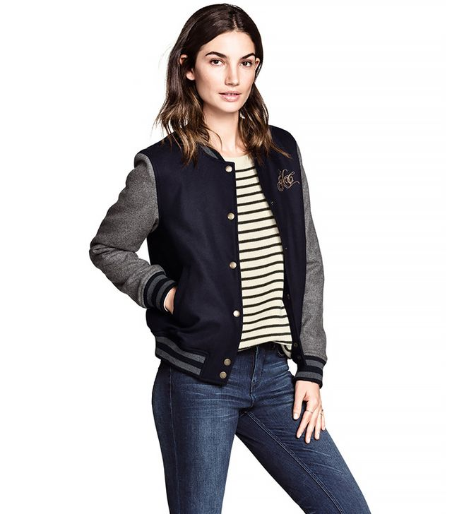H&M Baseball Jacket in Wool Blend