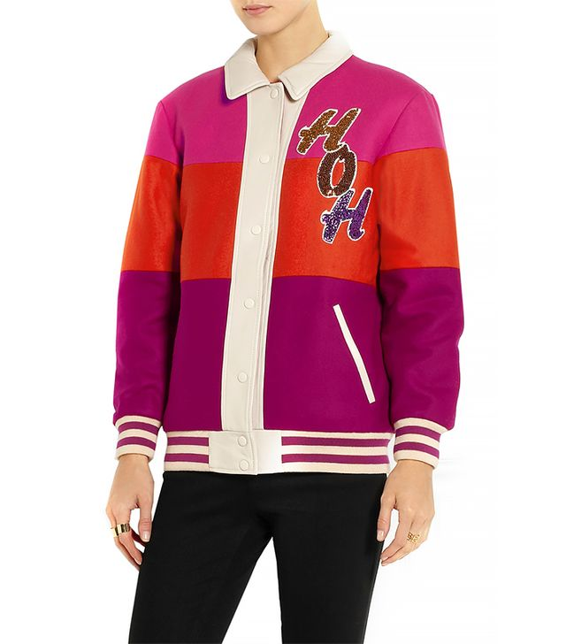 House of Holland Giddy Up Sequin-Embellished Felt Jacket