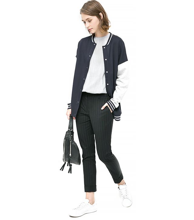 Mango Cotton Varsity Jacket