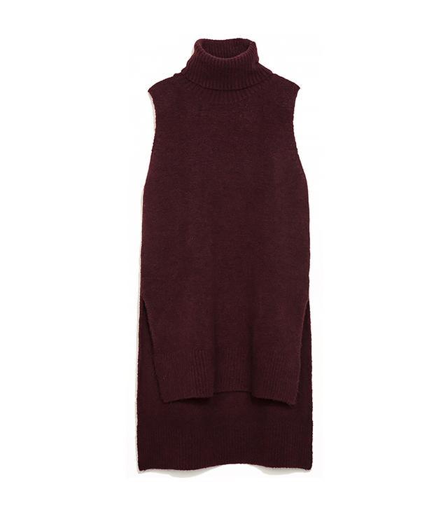 Zara Turtleneck Vest With Slits