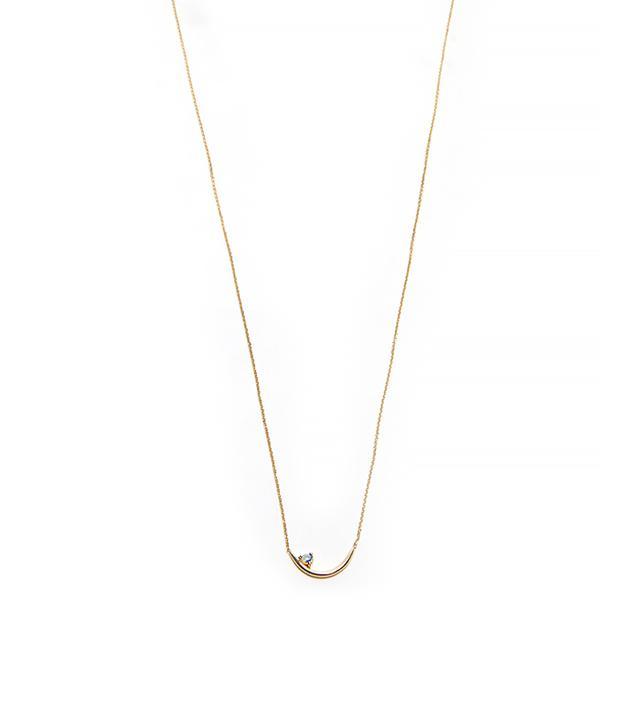 Wwake Offset Opalite Arc Necklace