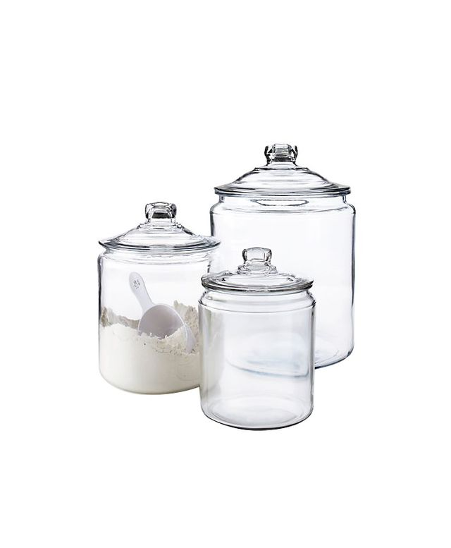 Crate & Barrel Heritage Glass Jars