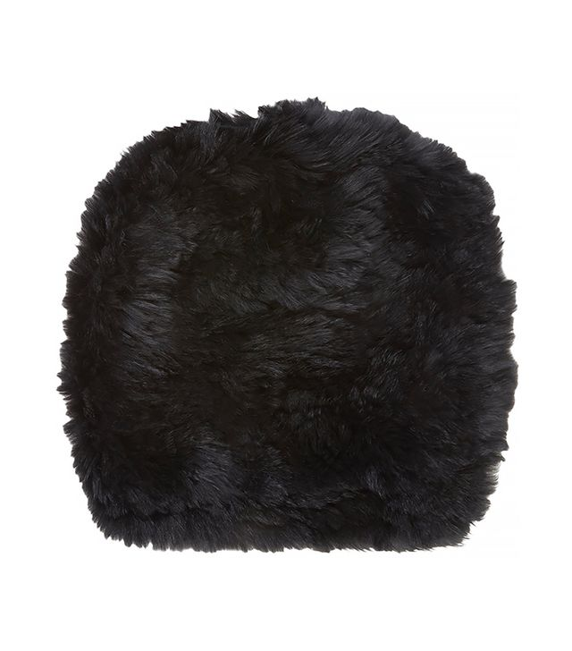Barneys New York Fur Slouchy Beanie